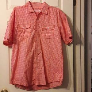 Men's Michael Brandon checkered button down shirt